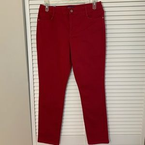 Red Amy Modern Straight Women's Size 10 Jeans